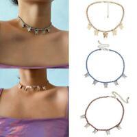Frauen Schmetterling Quaste Halskette Anhänger Kette Choker Modeschmuck