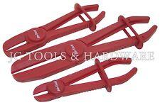 3pc Flexible Hands Free Brake Hose Pipe Clamp Plier Set Flexi Hose Radiator Tool