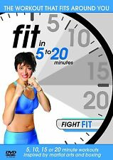 Fit In 5 To 20 Minutes: Fight Fit DVD - Brand New & Sealed - Free UK Post