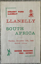 More details for llanelly v south africa 1960 rugby union