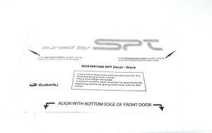"Genuine Subaru "" Tuned By SPT "" Black Decal Sticker STi WRX SOA3681200 OEM"
