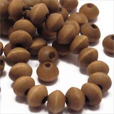 Lot de 50 Perles en Bois Rondelles 6x8mm Marron clair