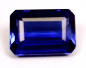 Ceylon 7.45Ct Natural Blue Sapphire Emerald shape Loose Gemstone Certifed B1625
