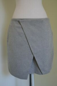 Alice in the eve Grey Skirt Size 12 Side pockets Cross Wrap Detail