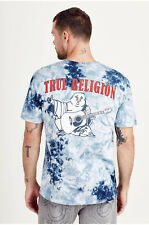 e05a6cdca19 True Religion Mens T-shirt Tie Dye Buddha Ocean Waves Blue Jeans 2xl