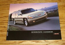 Original 2002 GMC Yukon / Denali Sales Brochure 02