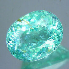 HUGE 12.66 ct. Certified Paraiba Tourmaline with Neon Bluish Green Color- RARE!