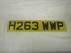 GREAT BRITAIN ENGLAND WORCESTER VINTAGE 1990 # H263 WWP REAR LICENSE PLATE