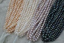 wholesale 20 strands mix white pink purple black genuine pearl strings 7-8mm