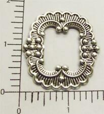 21184 - 2 Pc Victorian Frame Brass Jewelry Finding Matte Silver Oxidized