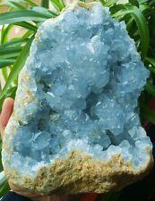 F2101 Natural Beautiful Blue Celestite Crystal Rough Mineral Specimen  3145g