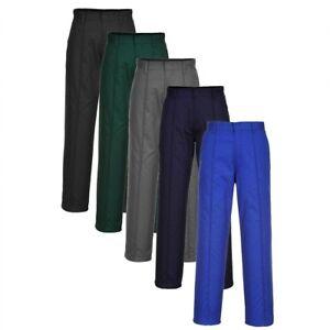 PORTWEST Preston Trousers Side Pockets Tailored Look Pants Safety Work Wear 2885