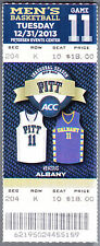 Pittsburgh Panthers vs Albany December 31 2013 Unused ACC Basketball Ticket