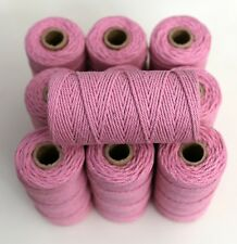 BAKERS TWINE - PINK - ONE 100m roll 12ply - Christmas gifts, wedding tags
