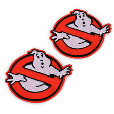 "2pcs 3.5"" Embroidered Retro Ghost Busters Sew Iron On Patch Badges Bag Applique"