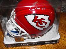 Charcandrick West Kansas City Chiefs Autographed Mini Helmet