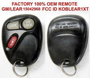 100% OEM 2001 - 2004 Chevrolet Tahoe Keyless 3 BUTTON Remote KOBLEAR1XT 15042968