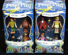 New 8 PETER PAN MINIMATES Two 4-Pack Figures CAPTAIN HOOK Tinkerbell CUBBY Nibs