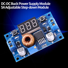 Step Down 5A DC 4V-38V to 1.25V-36V Convertitore DC DC Power Supply Module +Dado