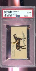 1889 N230 Kinney Bros. Bro's Cremorne English Horses Racing PSA 2 Graded Card