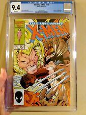 Uncanny X-Men #213 CGC 9.4 Cameo Mr Sinister 1st Wolverine vs Sabretooth Cover🔥