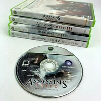 Assassins Creed 1 2 3 4 Black Flag Brotherhood Microsoft Xbox 360 Lot of 5