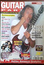 Guitar Part n°74; Angus Young/ FFF et le French Funk/ Matmatah, délires