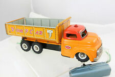 Japan Tin Dump Truck - Dump car 15 bed with elephant - Battery Operated