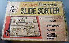 Vtg. Logan E-Z View Illuminated Slide Sorter No. 1055 Photographic Light Box