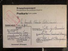 1943 Stalag 2c Germany Postcard Cover Prisoner War POW Camp To Brabant Belgium