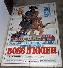 BOSS NIGGER original 1975 one sheet movie poster FRED WILLIAMSON/WILLIAM SMITH