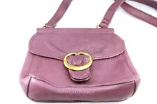 FOSSIL Purple Genuine Leather Small Over the Shoulder Handbag/Purse