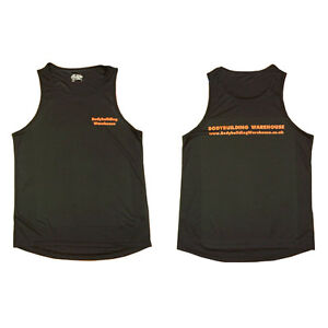 BODYBUILDING WAREHOUSE GYM VEST - TRAINING SLEEVELESS SUMMER TANK TOP