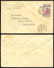 FRENCH COLONIES NIGER to ALGERIA 1940 CENSORED...LONDON + KANO TRADING CO