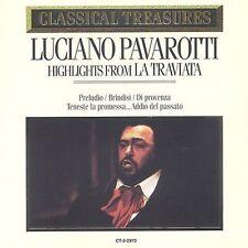 Classical Treasures: La Traviata by Peter Glossop, Luciano Pavarotti, Renata CD