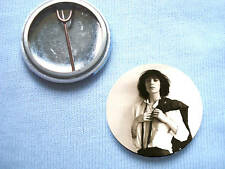 Patti Smith 25mm Badge Iggy Pop Punk Ramones Lou Reed