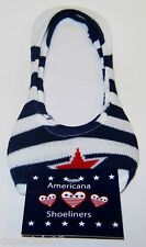 1 Pair AMERICANA Shoeliners Shoe Size 6-10.5US New/Card