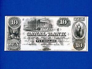 1800's  $10 Canal Bank NEW ORLEANS  CRISP UNC NOTE