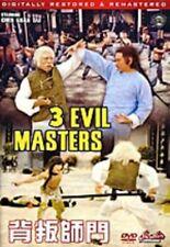 3 EVIL MASTERS - Hong Kong RARE Kung Fu Martial Arts Action movie - NEW DVD