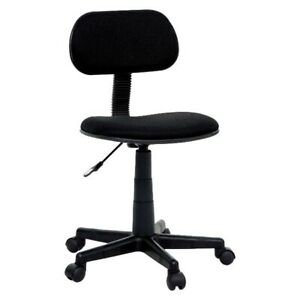 Black Study Chair - College Dorm Rooms and Table Desk Chair
