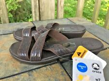 CROCS Molalla ii Java Relaxed Fit Sandals Clogs Wedges Womens Shoes Size 7 👠