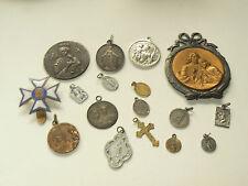 Lot de 17 medailles religieuses Anciennes Chrétienne An 1900  / 70