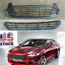 For 13 14 15 16 Ford Fusion Upper & Lower Front Grille