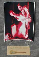 Jimi Hendrix HP Photo & Pre-Printed Signed Postcard Pre-Printed Jimi Signature