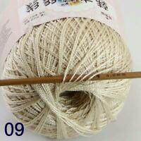 Thread No.8 Cotton Crochet Thread Yarn Craft Tatting Knit Shawl Lace 50g/400y 09