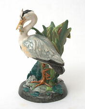 Minton In Miniature Majolica Heron Figurine - Made In England