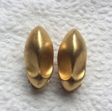 Vintage Signed GIVENCHY Gold Tone Shoes Shaped DESIGNED Clip On Earrings