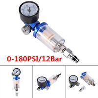 Spray Pneumatic Gun Air Regulator Gauge+ In-line oil Water Trap Filter Separator