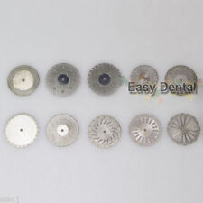 10pcs Dental Diamond Polishing Wheel Saw Disc Cutter Rotary Tool Double Side