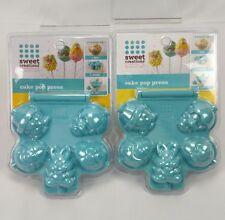 Cake Pop Press Molds Sweet Creations by Good Cook Easter Bunny Egg Lot of 2 - AC